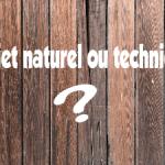 Objet naturel et objet technique