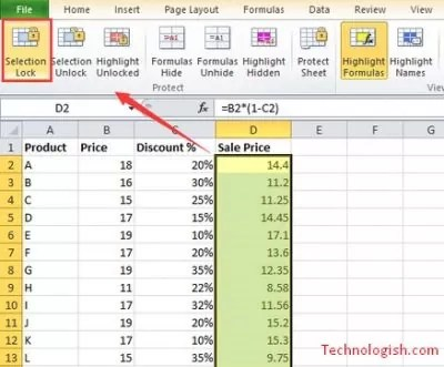 How to lock formula in excel – two easy ways