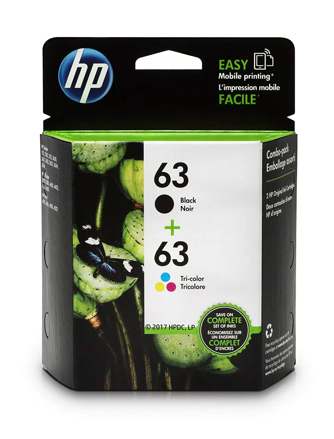 HP 63 Black Tri-color Original Ink Cartridges HP Deskjet Review