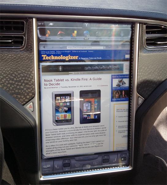 Tesla's Touch-Screen Dashboard
