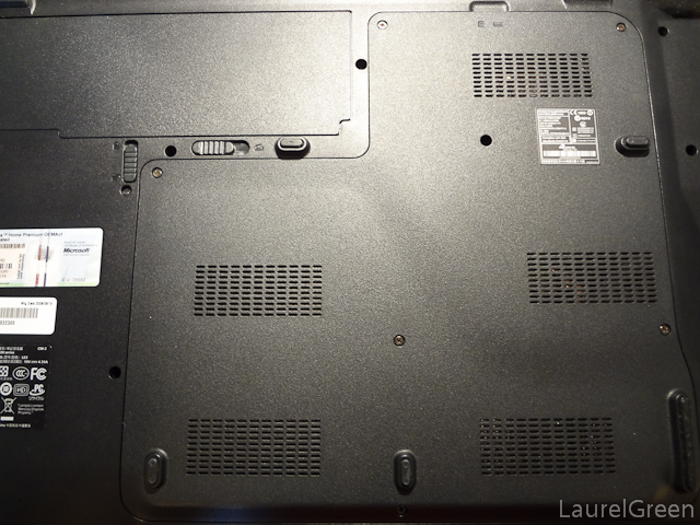 the access panel of an acer aspire 8930-6058 laptop