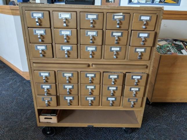 Old wooden cart catalog.