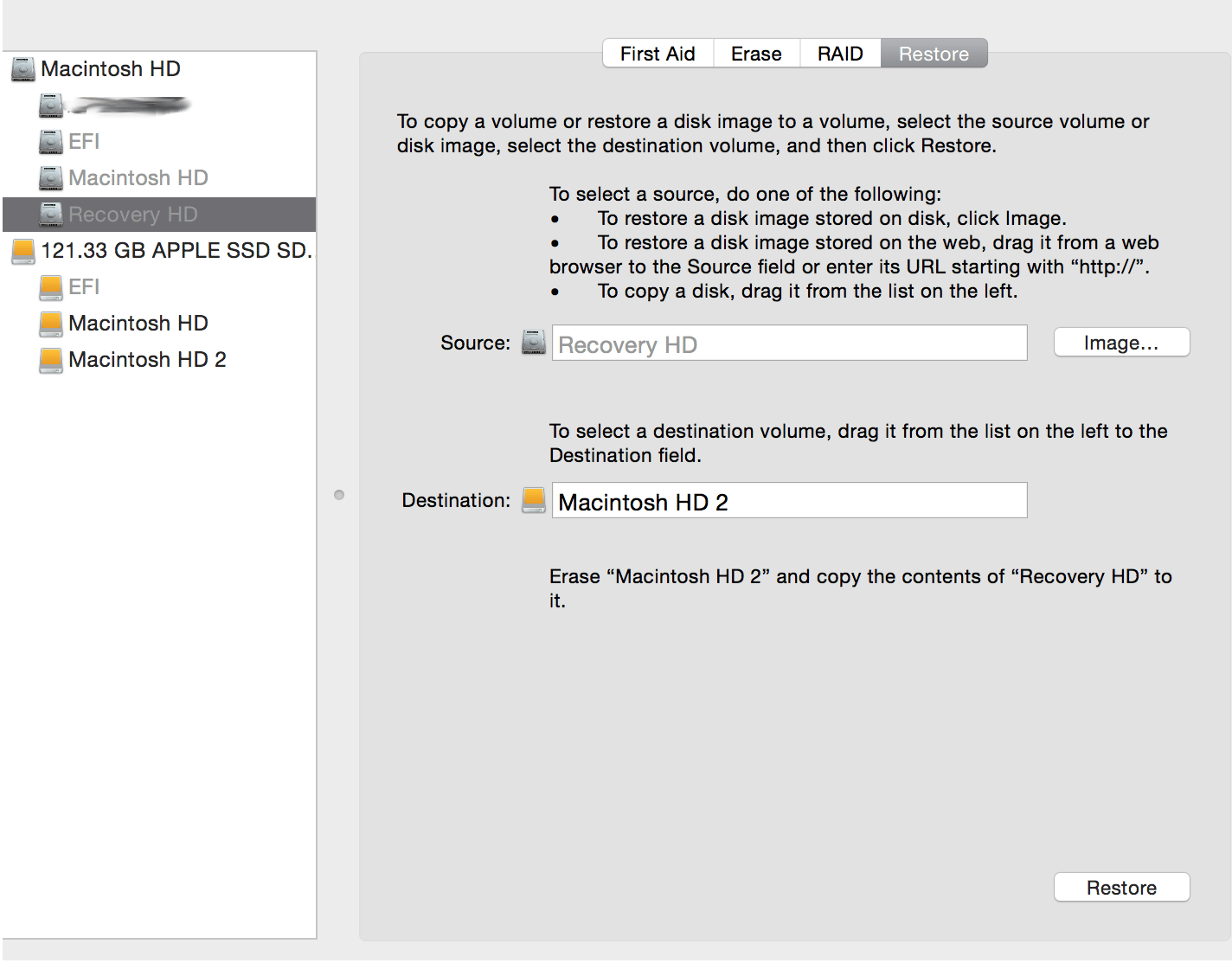 Restoring a deleted recovery partition on a Mac – St  Ignatius
