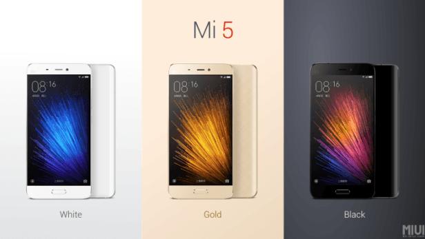 Xiaomi mi5 colors