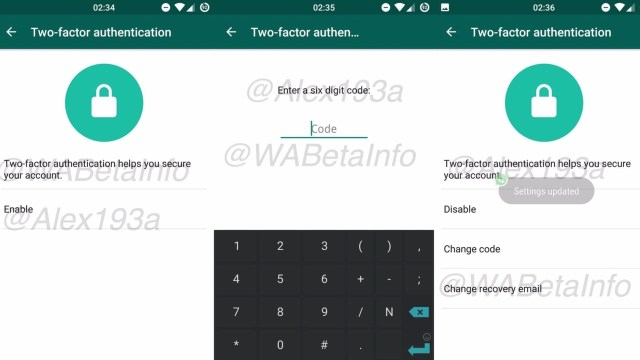 whatsapp two factor authentication