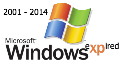 Microsoft Ends the support for windows XP.