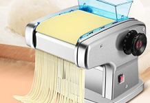 Sisliya Automatic Electric Pasta Maker Dumplings Noodle Pressing Double Blade Cover Manual Noodles Making Machine