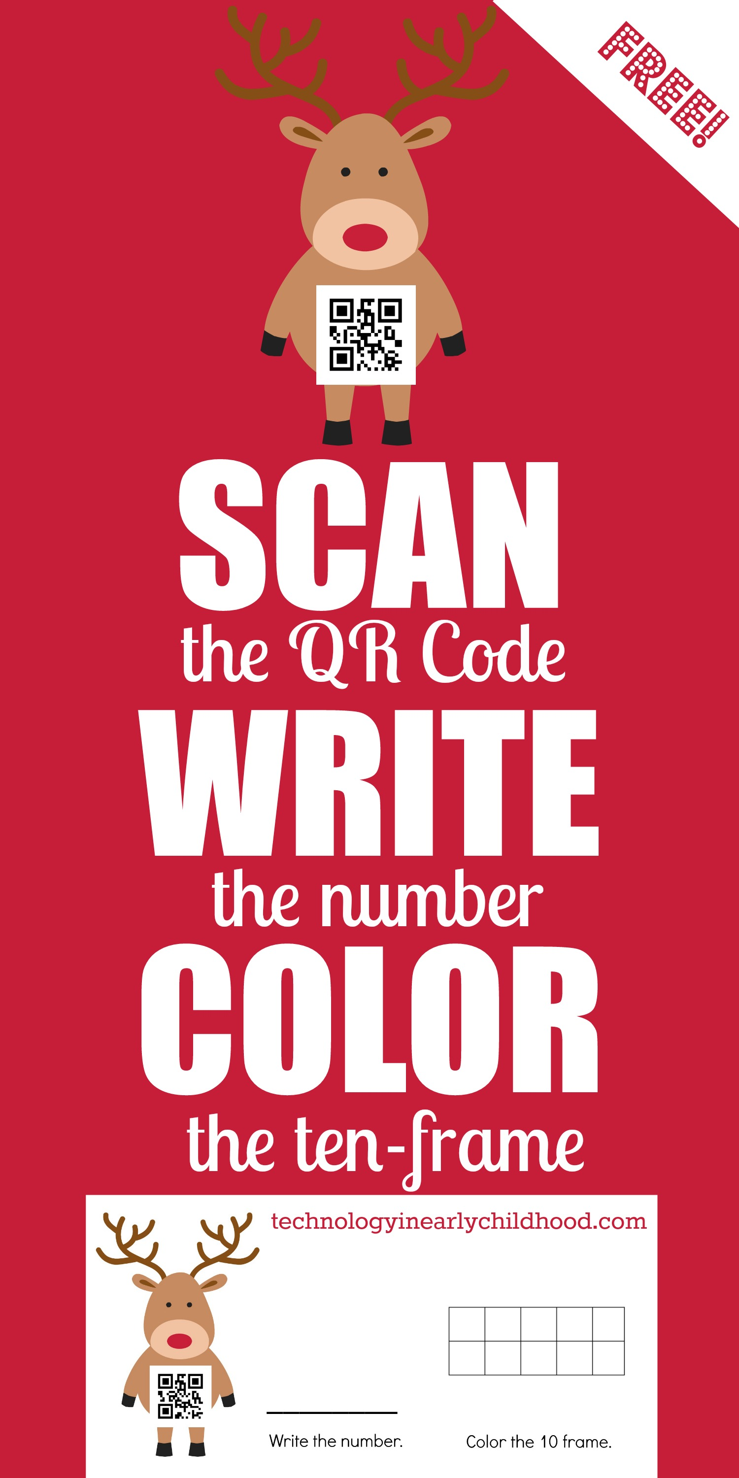 Holiday Qr Codes And Ten Frames For Practicing Numbers 0 9