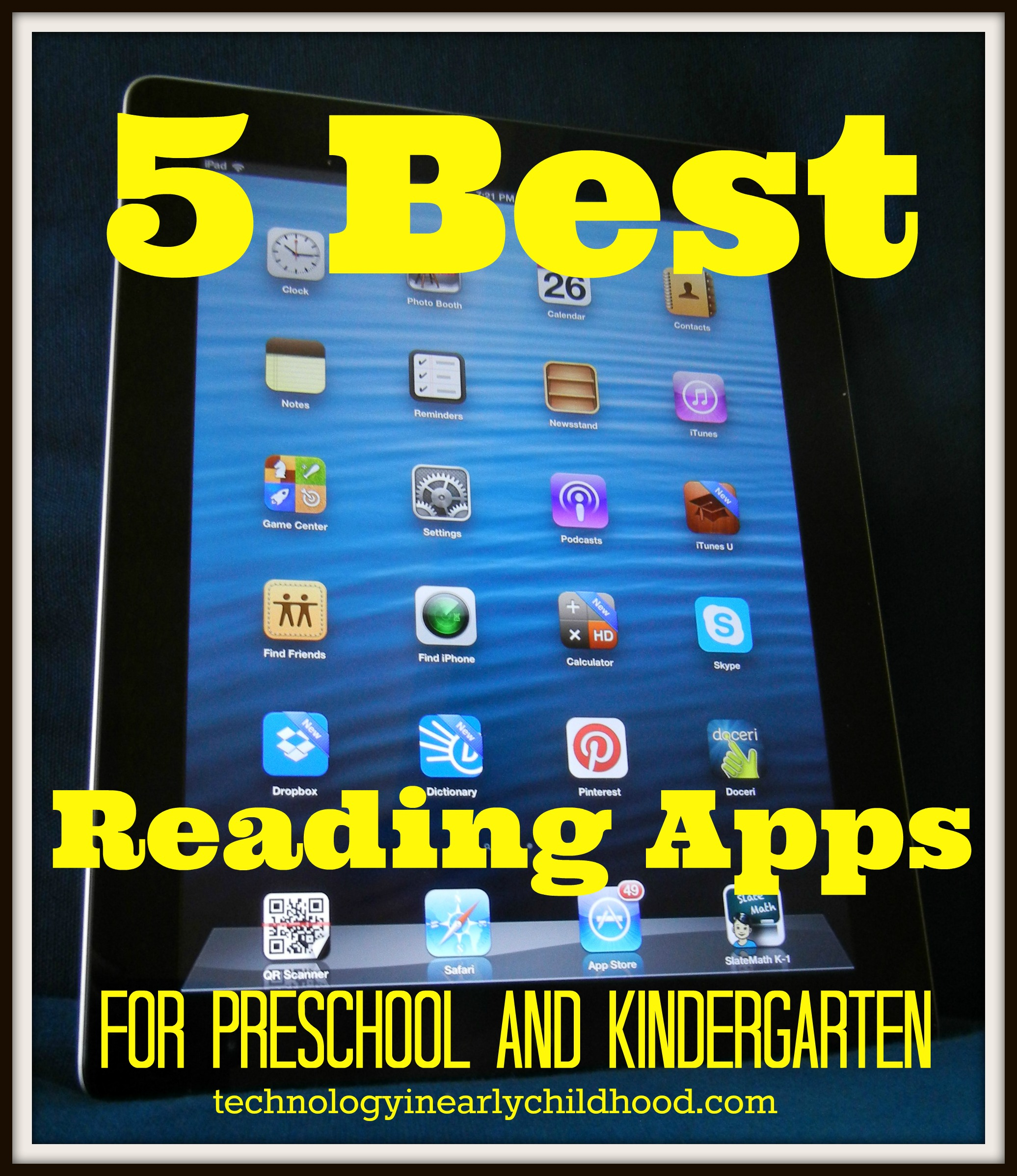 Five Best Reading Apps For Pre K And Kindergarten