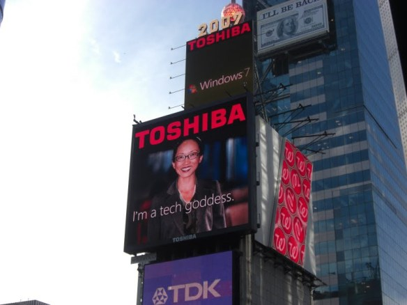 Toshiba Tech Goddess in Times Square