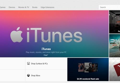 माइक्रोसफ्ट स्टोरमा एप्पल आइट्यून्स उपलब्ध, निशुल्क डाउनलोडको सुविधा