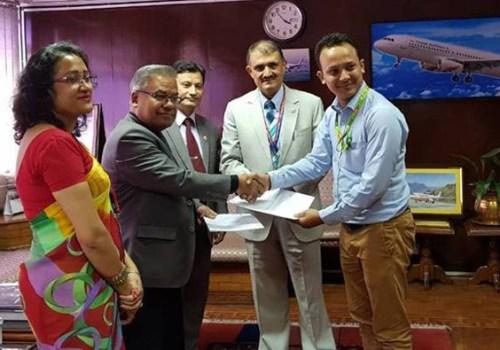 इसेवा र नेपाल एयरलाइन्सबीच सम्झौता, आन्तरिक र बाह्य उडान टिकट अनलाईन किन्न पाईने
