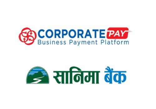 सानिमा बैंकद्धारा ग्राहकहरुका लागि 'कर्पोरेट पे' प्रणाली शुरु