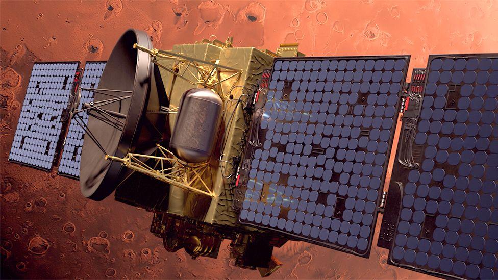 यूएईले मंगल ग्रहमा पठाएको यूएई यानले पठायो पहिलो तस्वीर