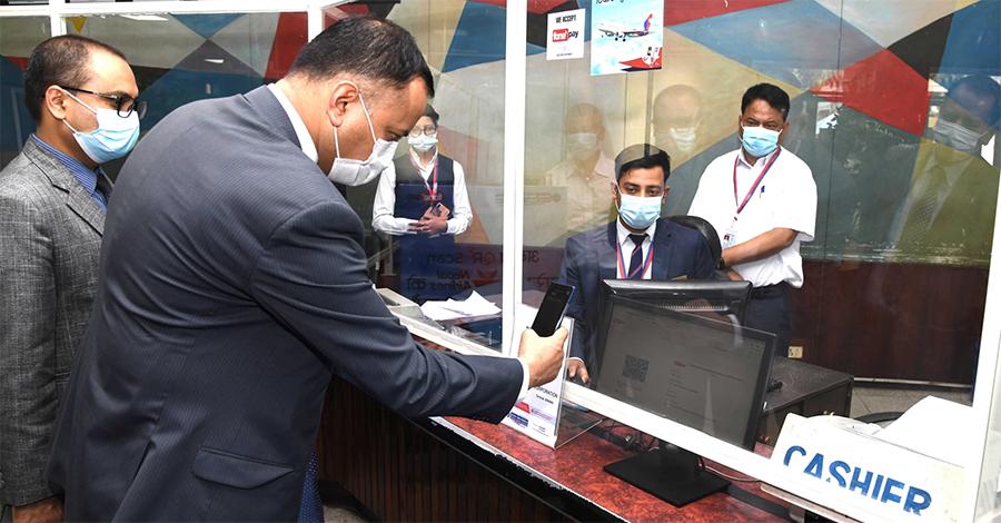 नेपाल बैंकको क्यूआर कोड मार्फत नेपाल वायुसेवा निगमको टिकट खरिद गर्न सकिने