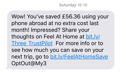 According to them I saved £56.36 which was nice.
