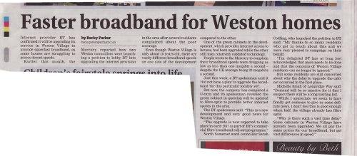 Weston Mercury News Report