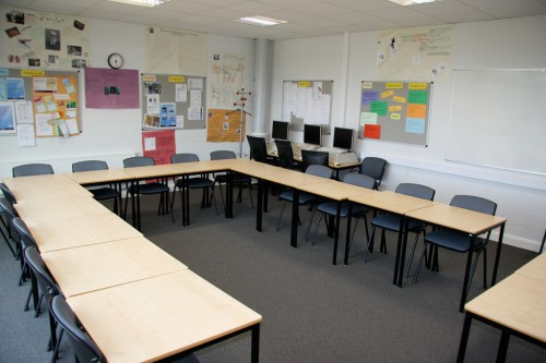 a classroom in Gloucestershire College