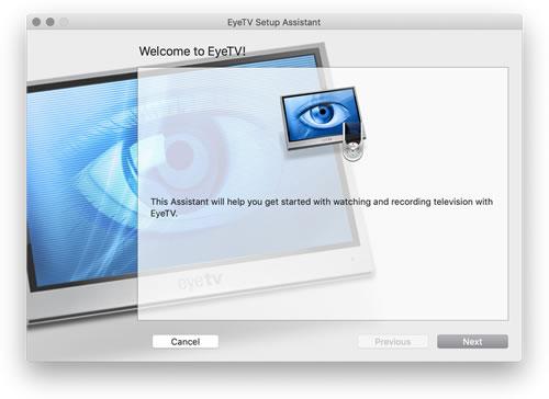 EyeTV setup assistant