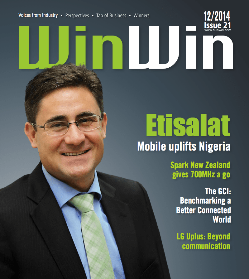 Matthew Willsher, Etisalat Nigeria CEO on cover of WinWin