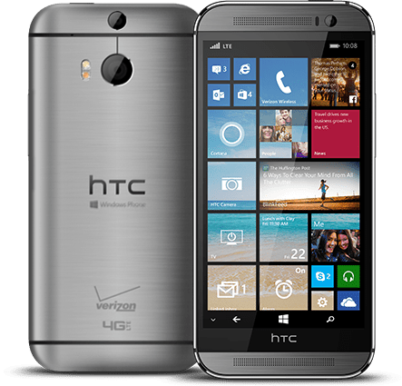 HTC One M8 smartphone running Windows Mobile