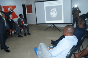 Basil Udotai (standing), speaks on cyber threat issues at the Technology Times Outlook Review of Nigeria Cybercrimes Act 2015, held recently in Lagos.
