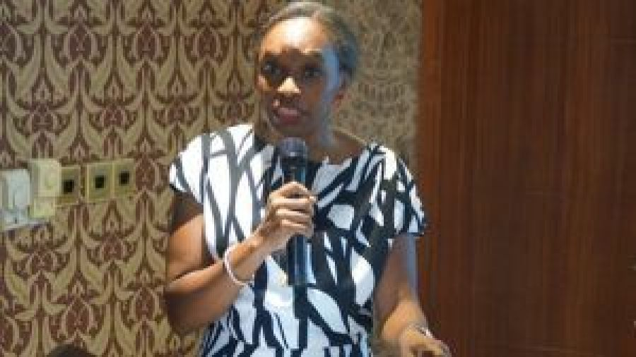 Dr Omobola Johnson, Nigeria's pioneer Minister of Communication Technology, at the A4AI meeting