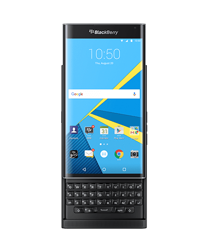 Front View of Blackberry PRIV