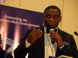 Tony Ojobo, Director, Public Affairs NCC, speaks today at the Lagos Social Media Week