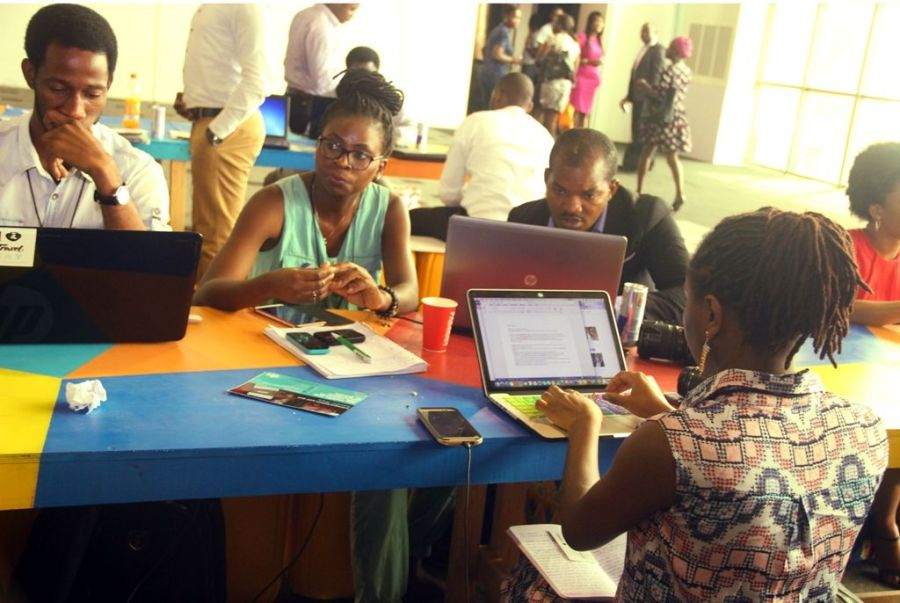 A Cross section of tech savvy at the Lagos social media week