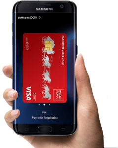 Samsung pay mobile payment display