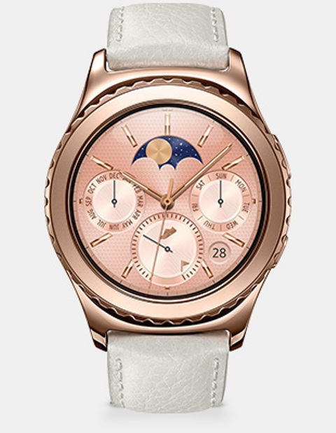 18K Rose Gold Plated Gear S2 Classic