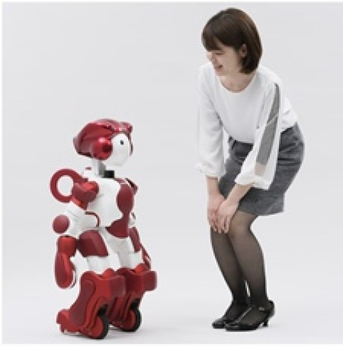 Hitachi's new humanoid robot offers customers assistance services 1