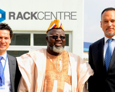 Maher Jarmakani, Group Co-CEO, Jagal (left); Barrister Adebayo Shittu, Minister of Communications Technology and Ayotunde Coker, Managing Director, Rack Centre, when the Minister visited Rack Centre world class data centre facility at Oregun in Ikeja.