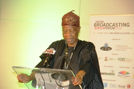Alhaji lai Mohammed, minister of information&culture speaks at the digital broadcasting Africa forum
