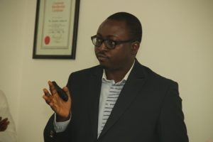 Dayo Adefila, CEO Hotsauce,speak at the event