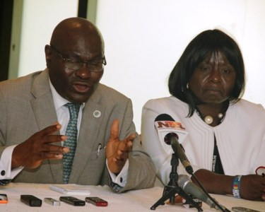 Shola Taylor, secretary general, commonwealth telecommunications organisation, and Alheri Saidu, acting director-general, national broadcasting commission, during the press briefing (1)