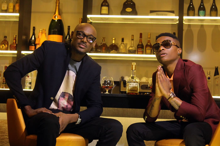 Image of 2face and Wizkid as they headline Hennessy Artistry show in 2014