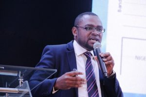 Chidinma Iwe, Chief information Security officer at MainOne speaking at the event