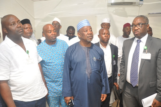 Some membersICT committee of house of rep with Dr Vincent Olatunji during the visit at NITDA office ,Abuja