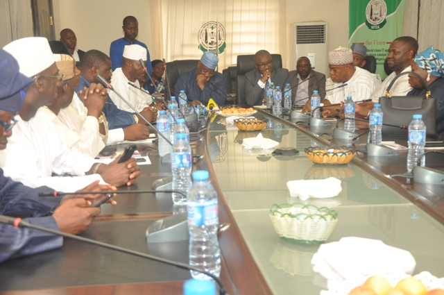 Cross section of members of house of rep during the visist to NITDA office in Abuja