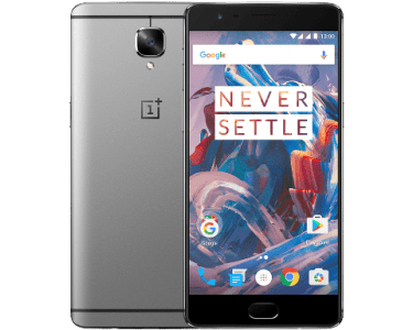 front and back view of OnePlus 3 Smartphone