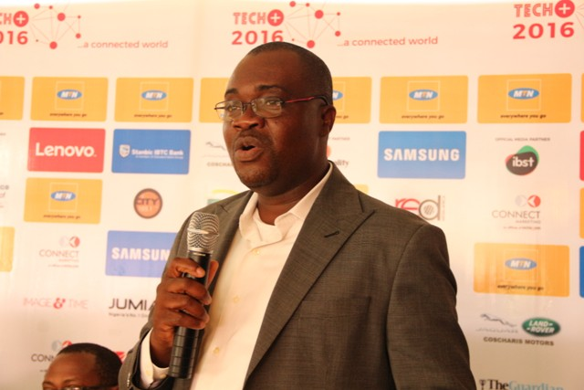 Richard Iweanoge,GM consumer marketing MTN Nigeria speaks at the press conference