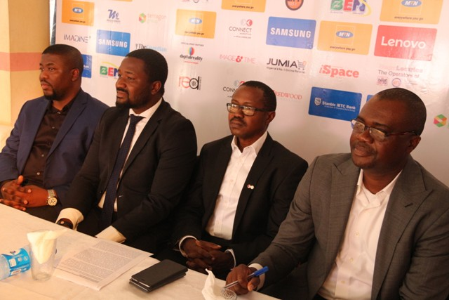 L-R Damilola Runsewe, corporate segment manager, MTN, Gbonju Akingbade, programme director, Techplus, Tunji Adeyinka, Managing Director, connect marketing and Richard Iweanoge,  of MTN (1)