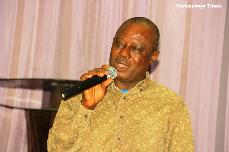 """Mr. Ademola Akinlabi, Chairman of PJAN, seen in photo, speaks at the one-day training in Lagos organised by Technology Times Media Limited for Photojournalists Association of Nigeria (PJAN) on the """"Application of Technology in Photojournalism."""""""