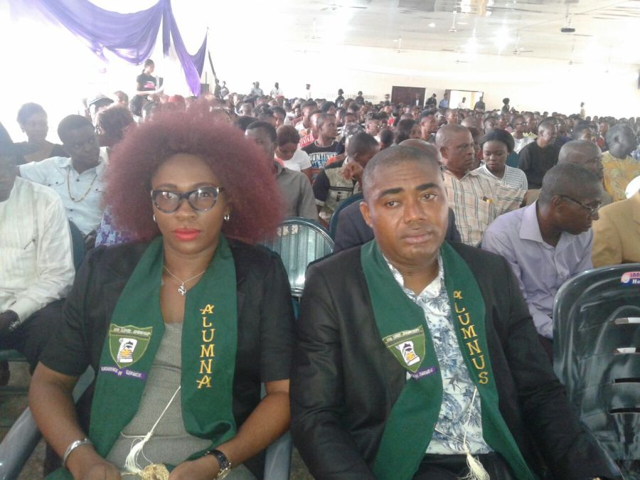 Photo shows cross section of attendees at the entrepreneurship summit with the theme – The ABC of wealth creation and sustenance in the 21st Century – organized by the Imo State University and the Alumni Association in partnership with pioneer composite e-commerce company, Yudala, which held Monday at the University Auditorium.