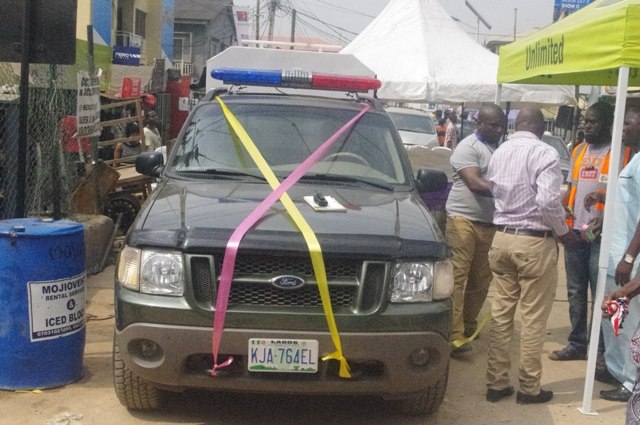 The security vehicle launched by CAPDAN to boost security in Computer Village, Ikeja