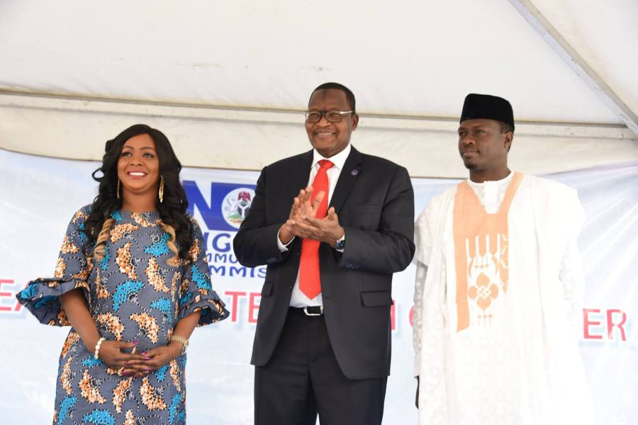 "Under the plan, Danbatta, seen in middle in photo taken at the NCC event, told attendees that ""I have convened a meeting with MNOs (mobile network operators) and infrastructure providers to demand that the quality of service must be improved upon immediately."""