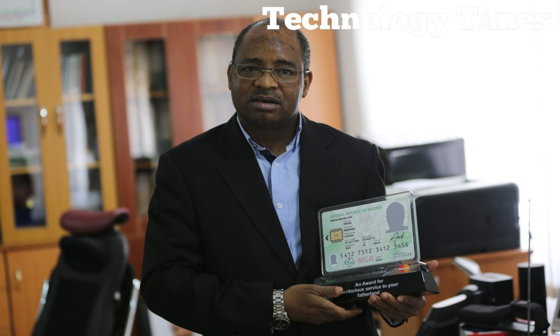 Engineer Aliyu Aziz, Director General/CEO of National Identity Management Commission (NIMC), seen during the interview with Technology Times at the NIMC Headquarters in Abuja.