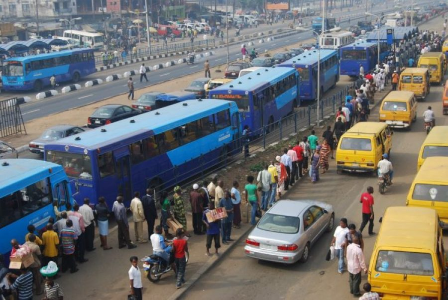 Lagos transit payment system taps contactless card
